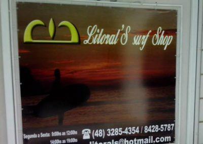 Placa em lona Litoral's Surf Shop
